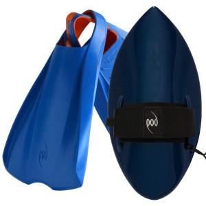 POD Fins PF2s Blue/Orange - Black/Blue POD Handboard