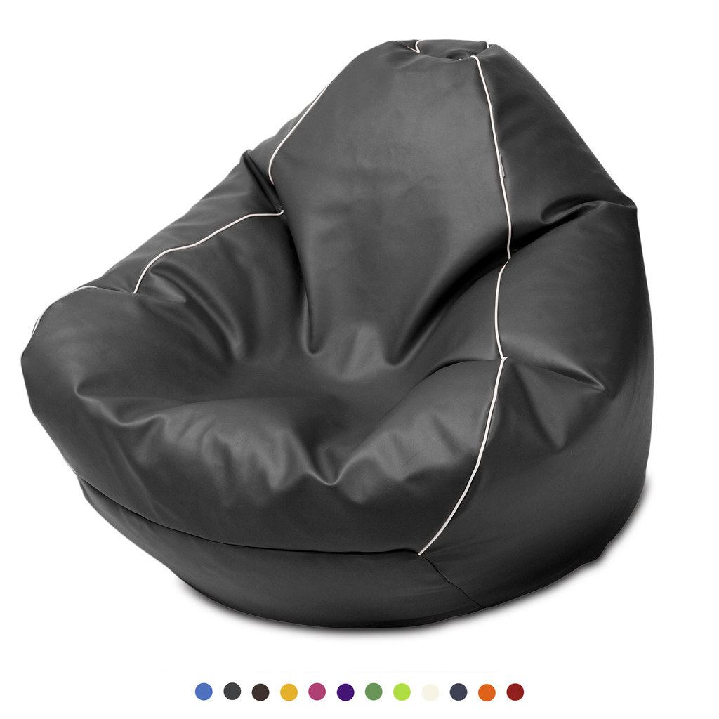 Retro Queen Size Bean Bag in thunder