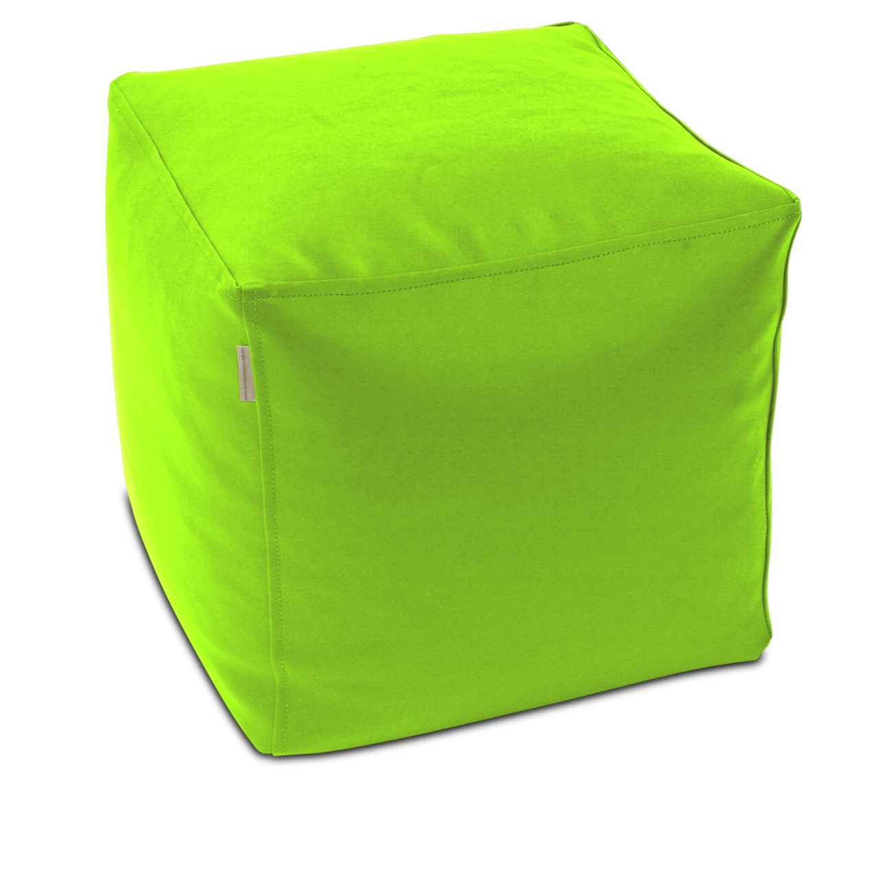 Classic Cube Poof in lime