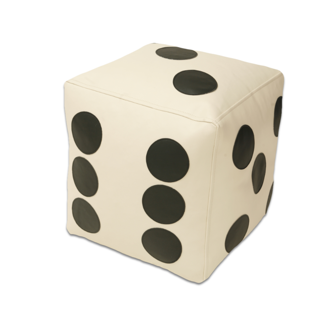 Dice Poof in white