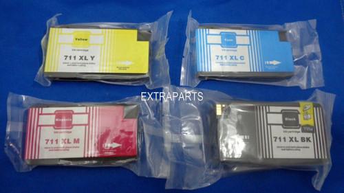 4 PK HP 711 XL 711XL INK Cartridge for HP DesignJet T120 T520