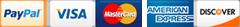 Visa Payapl Master Cards American Express Discover