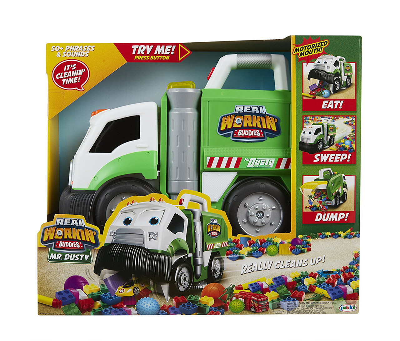Real Workin Buddies Mr Dusty The Super Duper Toy Eating Garbage Truck Novelty Vehicles