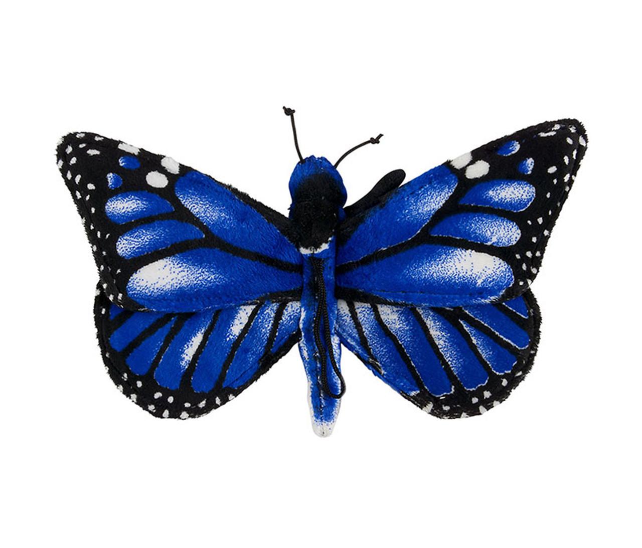 Blå Morpho Butterfly Toy Stuffed Animal Plush-4986
