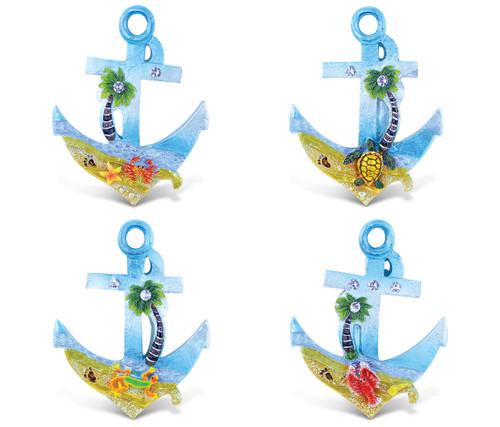 Anchor - Silver Beach Magnets