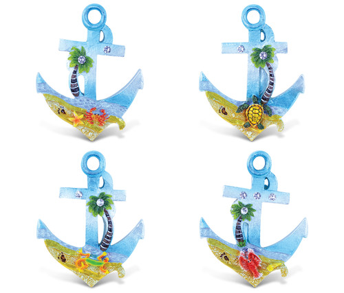 Anchor - Silver Beach Magnets