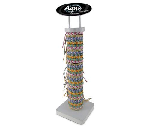 Aqua Bracelets Package Pastel Chevron Cotton