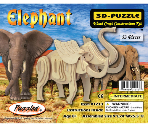 3D Puzzles Elephant