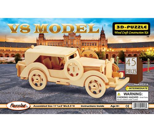 3D Puzzles V8 Model Car