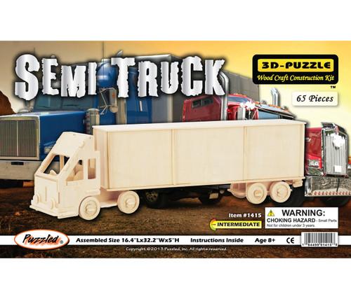 3D Puzzles Semi Truck