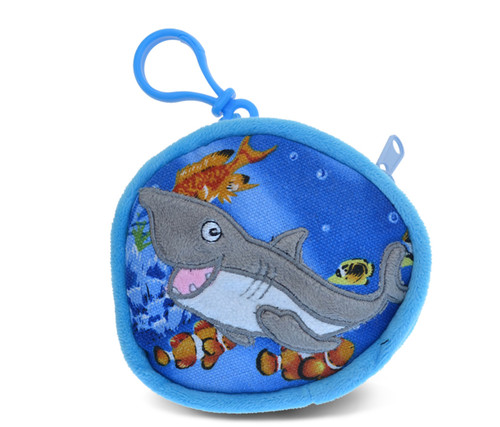 4 Inch Coin Bag Shark