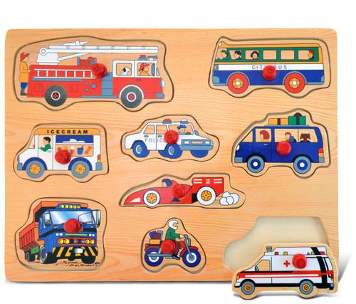 Peg Puzzle Large Vehicles