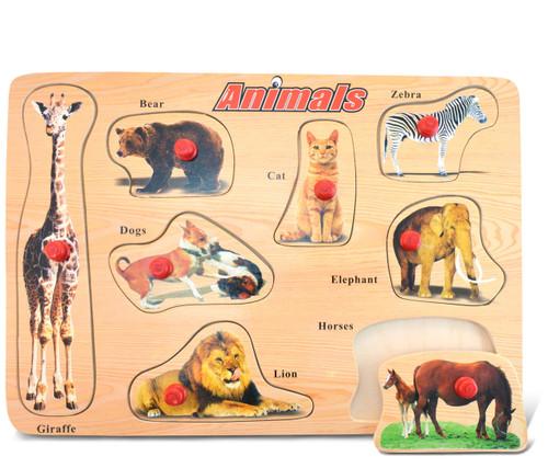 Peg Puzzle Large Animals
