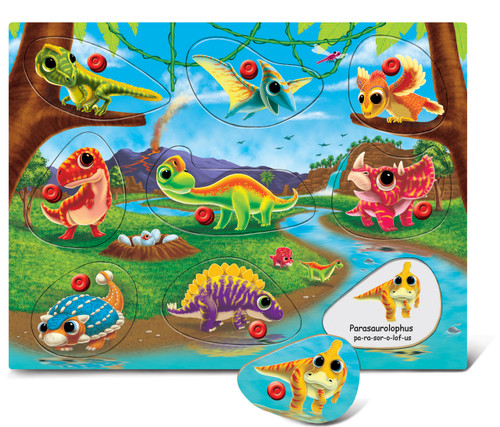 Peg Puzzle Dinosaur Land