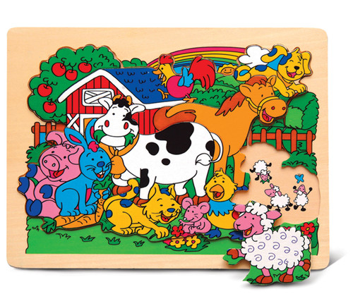 Raised Puzzle Small Farm Animal