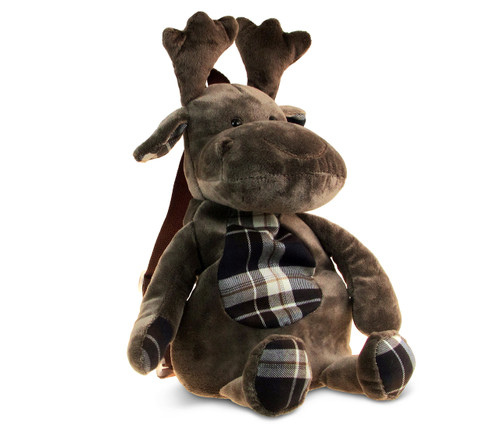 Stylish Plush Backpack Moose