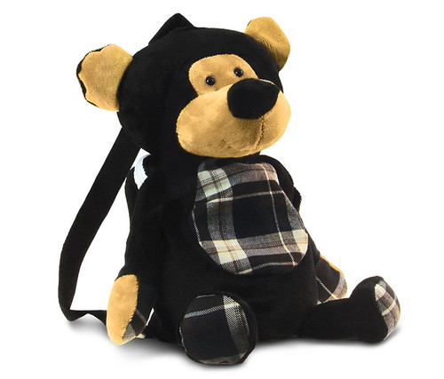 Stylish Plush Backpack Black Bear