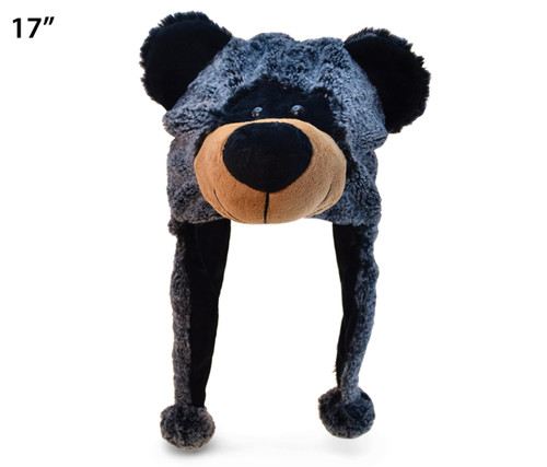 Super Soft Plush Hat Black Bear