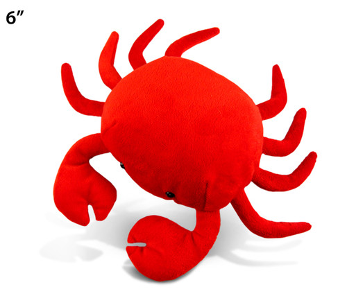 6 Inches Plush Red Crab