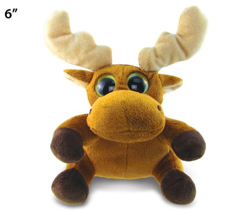 Big Eye 6 Inches Plush Moose