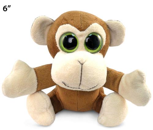 Big Eye 6 Inches Plush Monkey