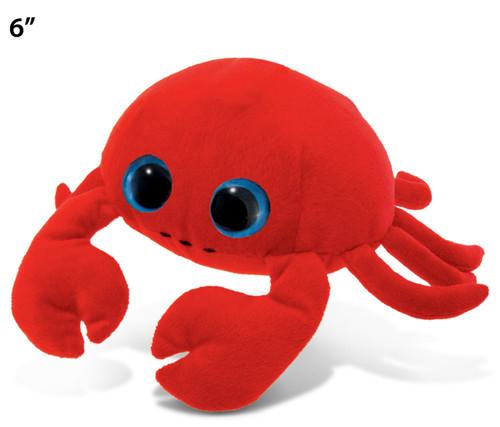 Big Eye 6 Inches Plush Red Crab