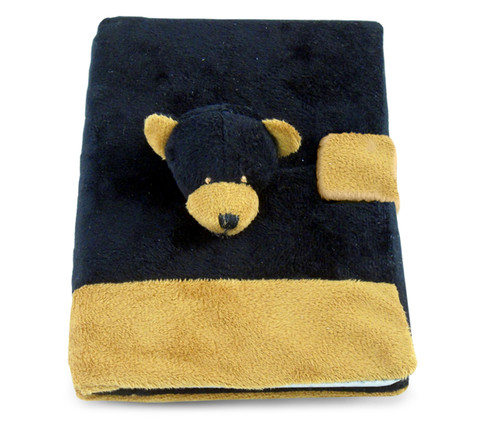 Plush Notebook Black Bear