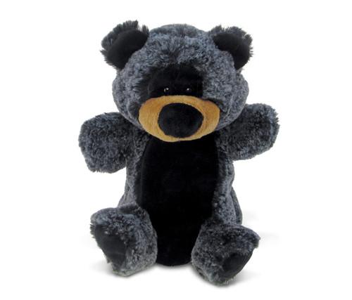 Super Soft Plush Hand Puppet Black Bear