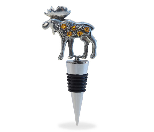 Cheers Wine Stopper Metal Moose