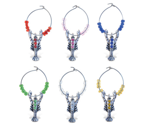 Cheers Wine Charms Metal Lobster