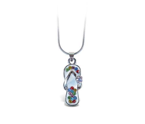 Sparkling Necklace Flip Flop