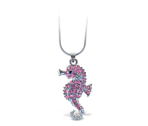 Sparkling Necklace Sea Horse