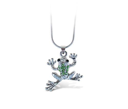 Sparkling Necklace Frog
