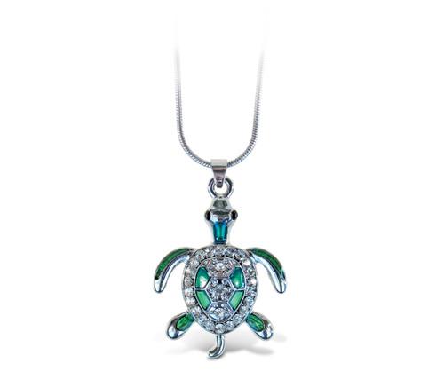 Sparkling Necklace Sea Turtle