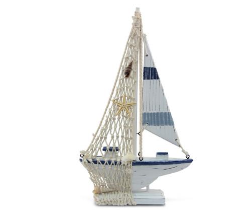 Nautical Decor Blue Stripes Boat