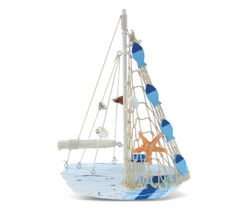 Nautical Decor Light Blue Sripes Boat Star Fish