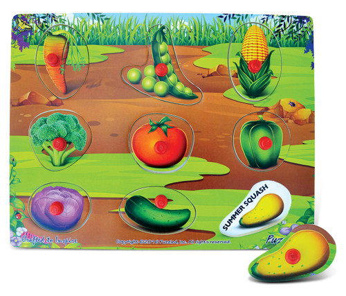 Peg Puzzles Vegetables