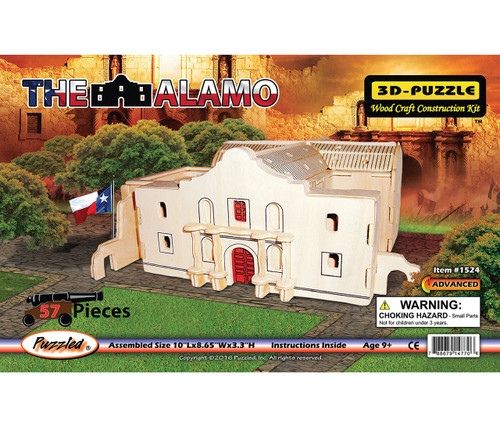 3D Wooden Puzzles The Alamo