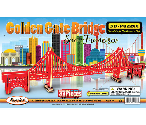 Illuminated 3D Puzzles Golden Gate Bridge