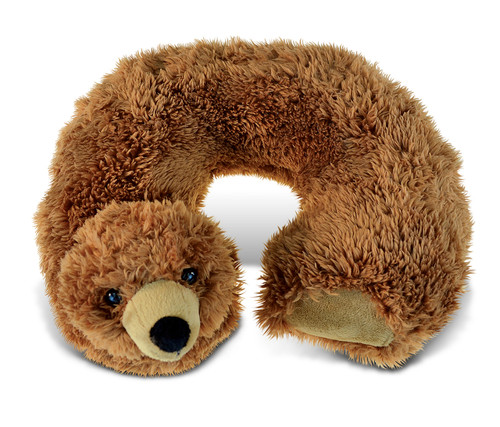 Super Soft Plush Neck Pillow Grizzly Bear