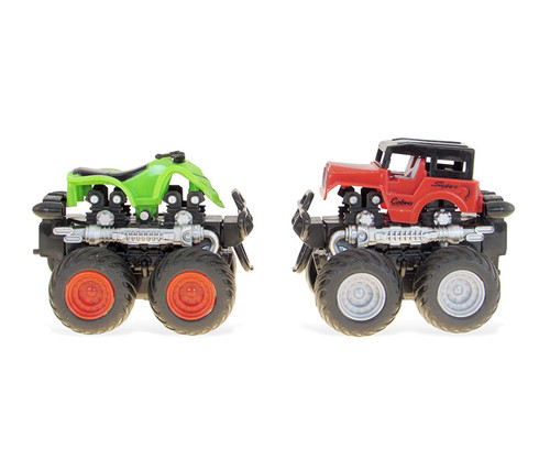 Vehicle Red and Green Four Wheeler with 360 Turn Function