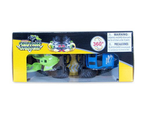 Vehicle Green and Blue Four Wheeler with 360 Turn Function