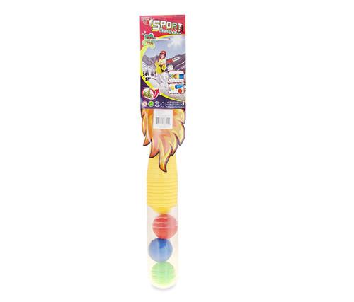 Plastic Baseballs Yellow Baseball Playset