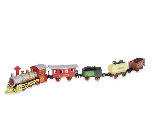 Train Sets Red Train with Railroad Tracks