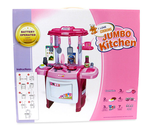 Kitchen Playsets Pink Kitchen Playset with Music and Lights
