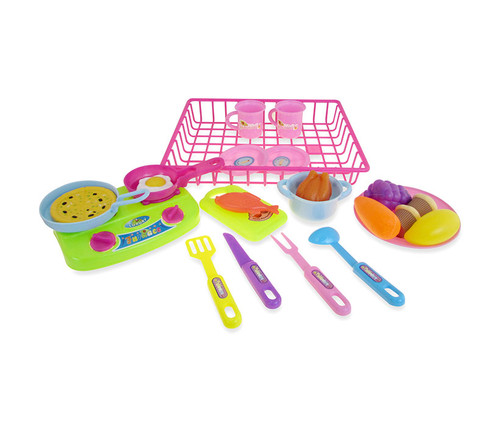 Kitchen Playsets Pink Kitchen Toy Dishes