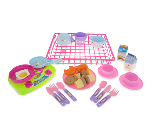 Kitchen Playsets Purple Kitchen Toy Dishes