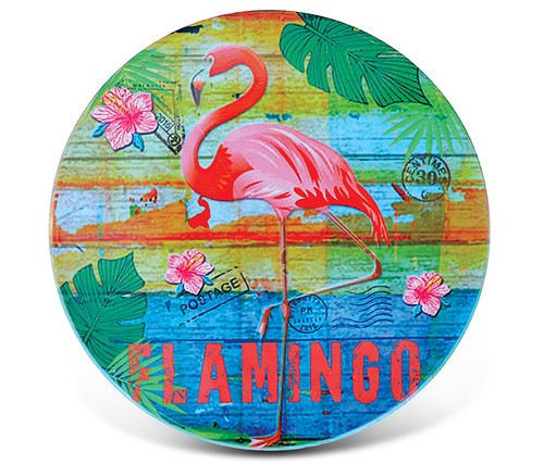 Ceramic Coaster Flamingo
