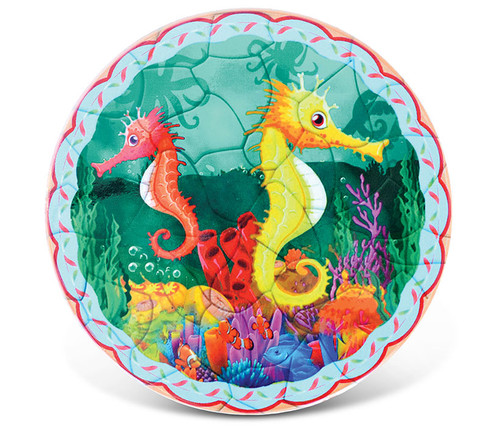 Ceramic Coaster Seahorses