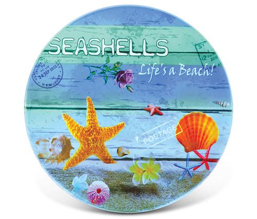 Ceramic Coaster Seashells